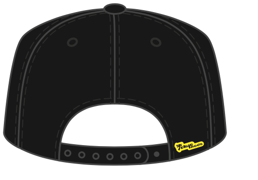 Tokyomods Snapback Hat Black w/ Yellow Logo